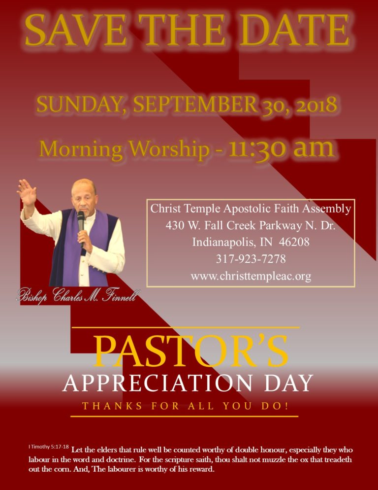 2018 Pastor Appreciation Church Flyer Template 2